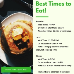 Best Times to Eat!
